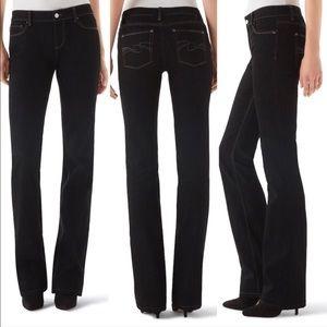 WHBM Black Boot Leg Bootcut Jeans Sz 4R